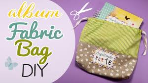 fabric photo album diy album fabric bag sacchetto in stoffa per album