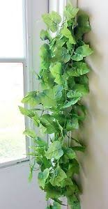 2 x 90 artificial thick leaves hanging garland 64 leave each