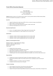 Hotel Front Desk Resume Examples by Sample Resume For Front Office Receptionist Template With Regard