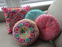Pink Round Cushion Casablanca Bright Turquoise Round Cushion By Bombay Duck London