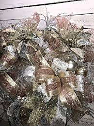 christmas wreath holiday wreath silver and gold holiday wreath