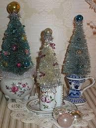 bottle brush trees in teacups i can make these bottle brush