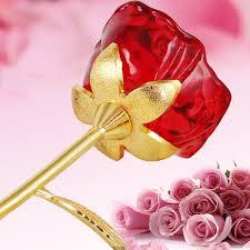 glass roses online shop jqj glass flower figurines craft wedding