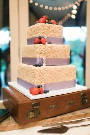 diy wedding ideas rice krispie treat wedding cake