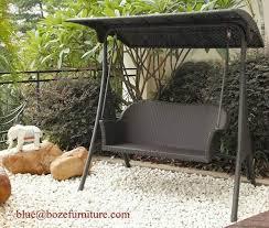 patio rattan swing chair furniture wicker double seats hammock bz