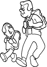 father son camping coloring wecoloringpage