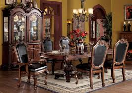 dark wood dining room table and chairs dining room ideas