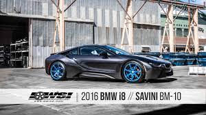 Bmw I8 With Rims - 2016 bmw i8 savini bm 10 youtube