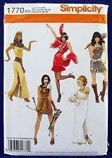 Halloween Costumes Sewing Patterns Simplicity Sewing Pattern 1770 K5 Misses U0027 Costumes Egyptian