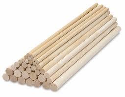 creativity wooden dowel rods blick materials