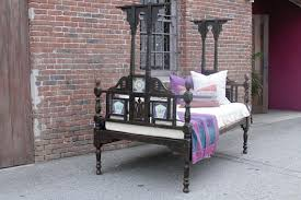 antique indo dutch bed anglo indian bed painted bed indian