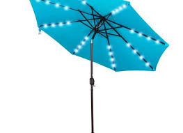 Solar Umbrella Lights by Patio Umbrella With Led Lights Darcylea Design Hommum