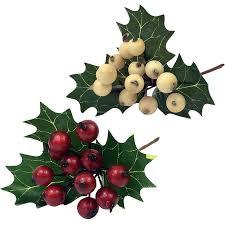 christmas picks ilex berry or white the essentials company