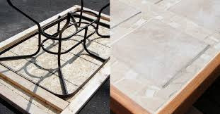 Diy Patio Table Top Remodelaholic How To Replace A Patio Table Top With Tile