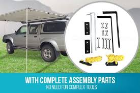 Vehicle Awning 2 5m X 3m Awning Roof Top Tent Camper Trailer 4wd 4x4 Camping Car