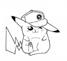 christmas coloring pages pokemon pikachu hat images pokemon