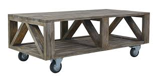 Kitchen Table With Wheels by Elegant Industrial Coffee Table With Wheels 60 For Your Home
