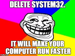 System 32 Meme - troll face colored meme imgflip