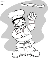 pizza chef coloring page kids drawing and coloring pages marisa