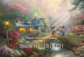 aliexpress buy kinkade paintings mickey rurality
