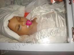 baby casket women in casket
