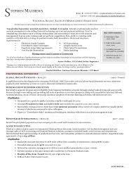 sales executive resume national sales executive resume