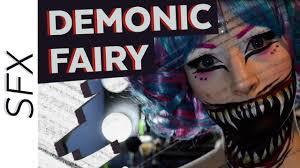 creepy cute demonic fairy sfx halloween makeup tutorial youtube