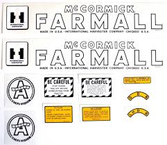 mylar decal set farmall super a decals and emblems farmall