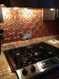 Copper Backsplash Kitchen Faux Copper Backsplash Decorating Pinterest Copper