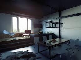 modern loft interior design blender
