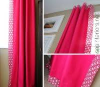 How To Make Grommet Top Curtains Curtains With Edging Curtain Design How To Decorate Ribbon
