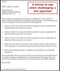 Appraisal Rebuttal Letter how to challenge a low appraisal and tips for agents and appraisers