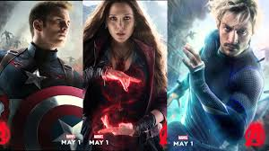 quicksilver film marvel scarlet witch and quicksilver round out avengers 2 character posters