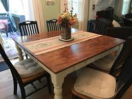 Distressed Kitchen Tables Stunning Best Finish For Wood Kitchen Table Also Modern Design