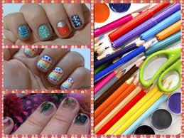 nail art using craft supplies 10 designs 1 video youtube