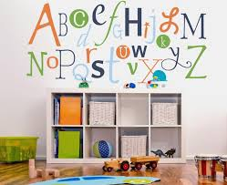 Wall Decal Letters For Nursery Wall Decal Design Colourful Alphabet Decals For Walls Decor