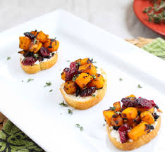 horderves for thanksgiving butternut squash cranberry and goat cheese crostini and how to