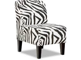 Zebra Accent Chair Simmons Upholstery U0026 Casegoods Living Room 3028 Armless Accent