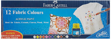 faber castell acrylic paint 12 shades amazon in electronics