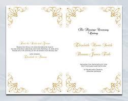 Church Programs Template Catholic Wedding Program Template Diy Silver Gray Cross