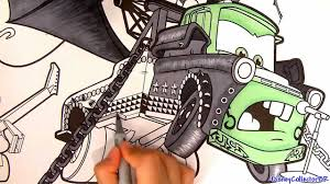 heavy metal mater drawing cars toon disney pixar paint