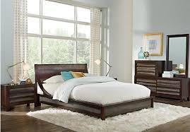 harmony place brown 5 pc queen platform bedroom bedroom sets