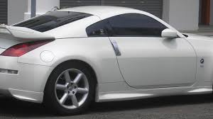nissan white white nissan 350z in the parking wallpaper download 5120x2880