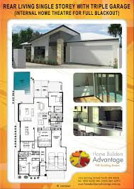 home builders advantage custom design rear living home with