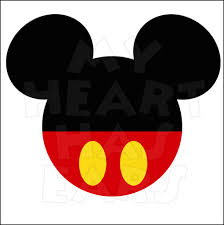 Mickey Mouse Flag Original Mickey Mouse Ears Head Instant Download Digital Clip Art