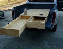 diy storage drawers in truck bed