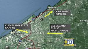 map of cleveland clinic live murder steve stephens manhunt in cleveland cbs