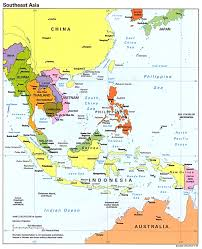 South Asia Blank Map by Southeast Asia Political Map 1995