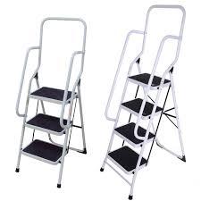 foldable non slip 2 3 4 step steel ladder tread stepladder safety