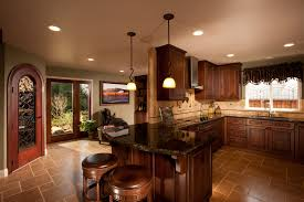 Cherry Vs Maple Kitchen Cabinets Tuscany Inspired Kitchen With California Flavor Cabinets Dura
